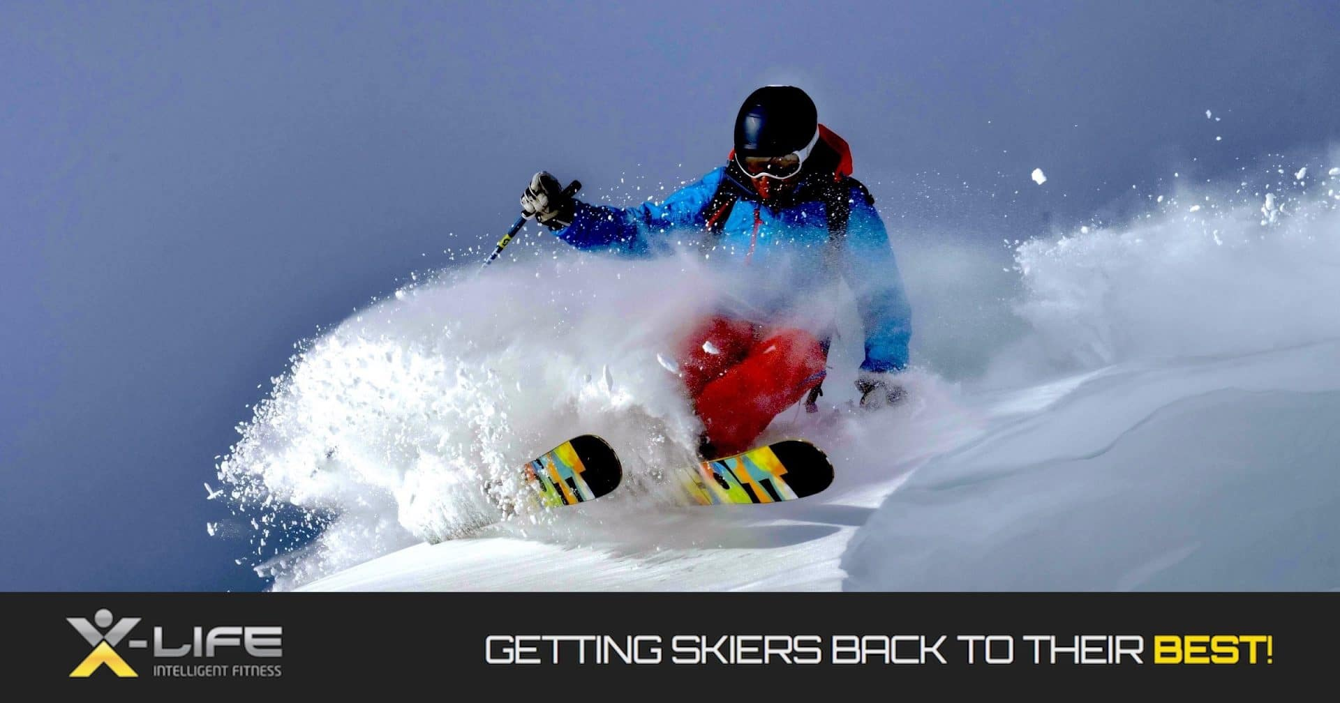 X-Life Online - Getting Skiers Back to Their BEST! Expert Ski Instructor, Alpine Race Coach, Ski Fitness expert, Online Ski-Fit program helping you ski as if you were decades younger...